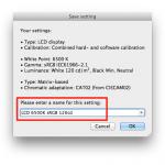 basICColor display 5 - Save Preset